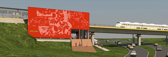 BRĘTOWO PKM Station Graphics Desing ©Anna Waligórska